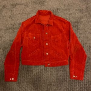 brandy melville red corduroy jacket